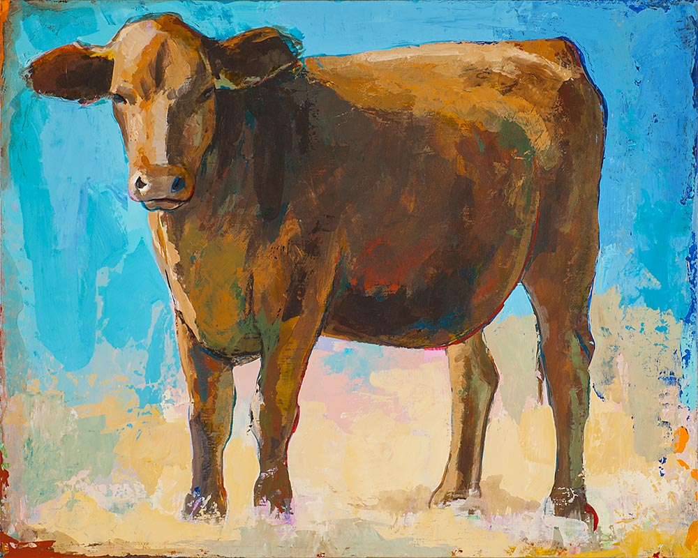 People Like Cows 1 painting by Los Angeles artist David Palmer
