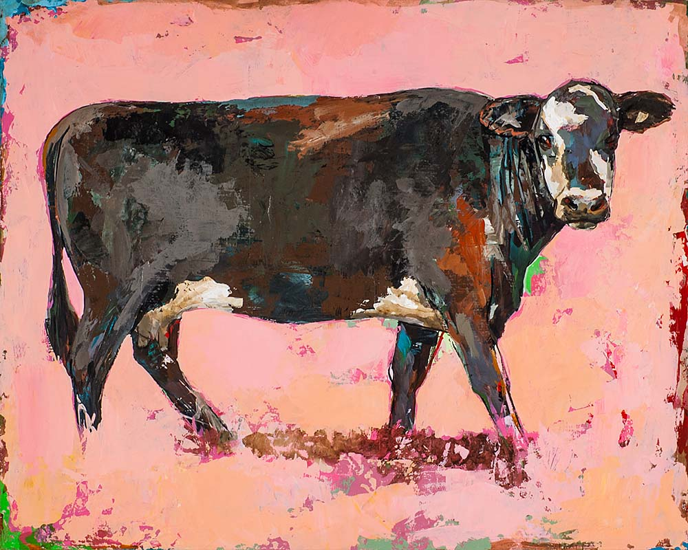 People Like Cows 2 painting by Los Angeles artist David Palmer