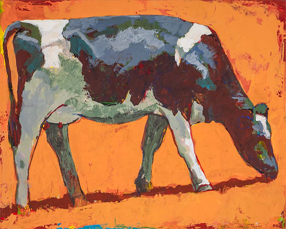 People Like Cows 4 painting by Los Angeles artist David Palmer