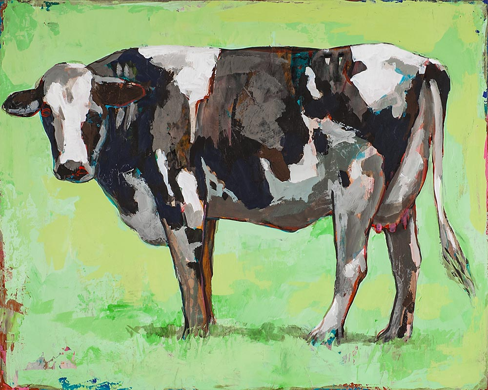 People Like Cows 5 painting by Los Angeles artist David Palmer