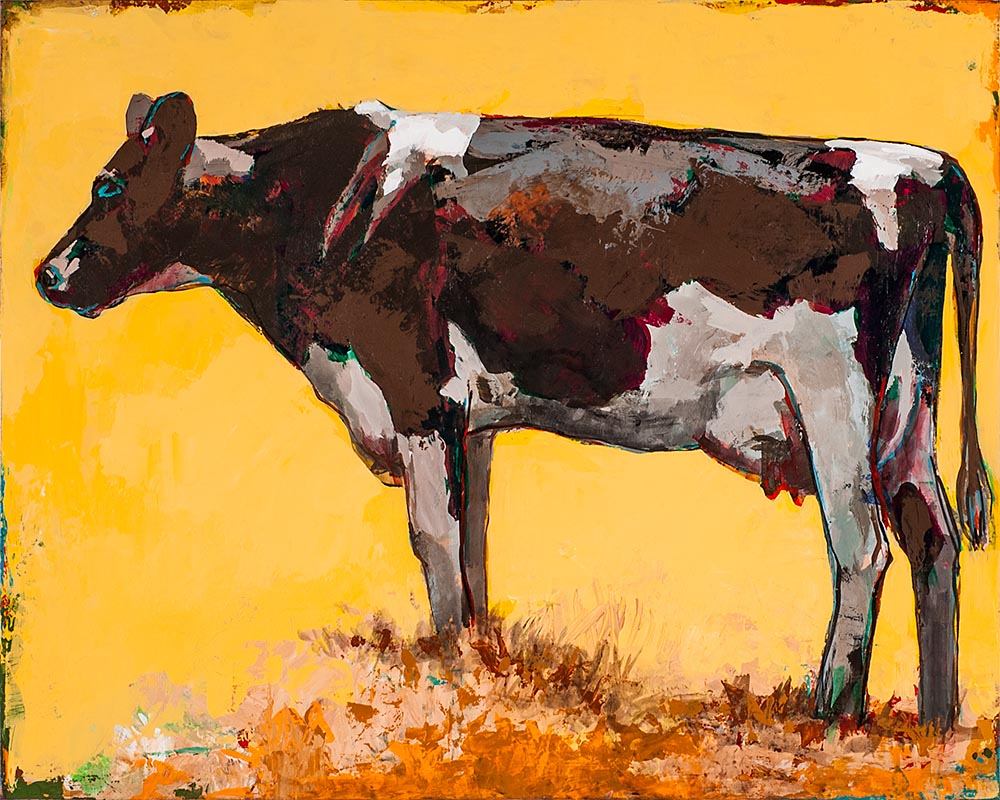 People Like Cows 6 painting by Los Angeles artist David Palmer