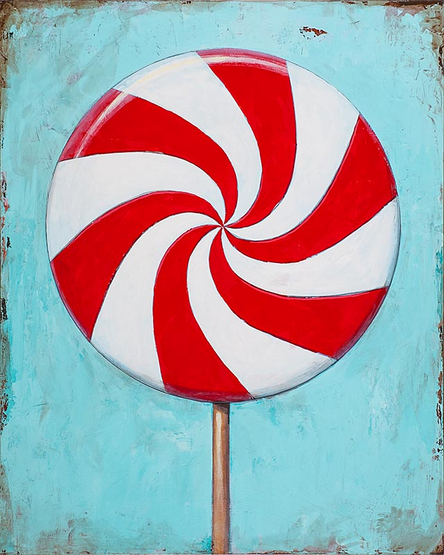 Lollipop 2 retro Pop Art painting by Los Angeles artist David Palmer