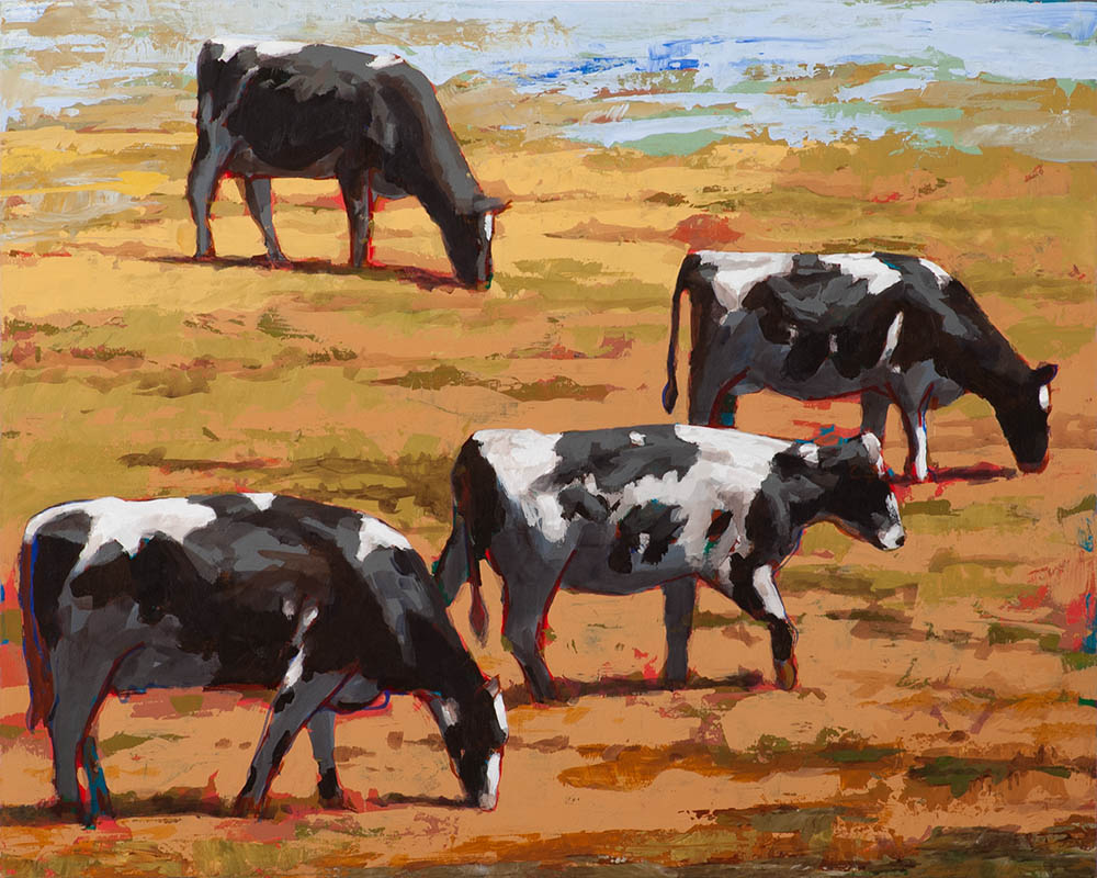 People Like Cows 10 painting by Los Angeles artist David Palmer