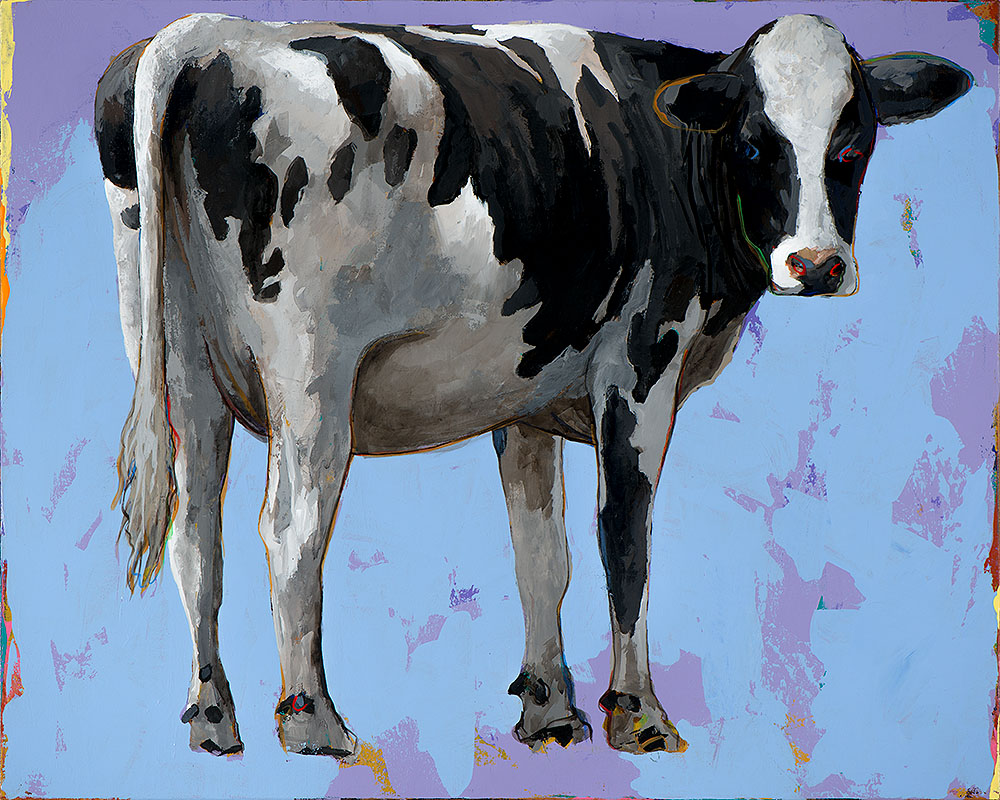 People Like Cows 11 painting by Los Angeles artist David Palmer