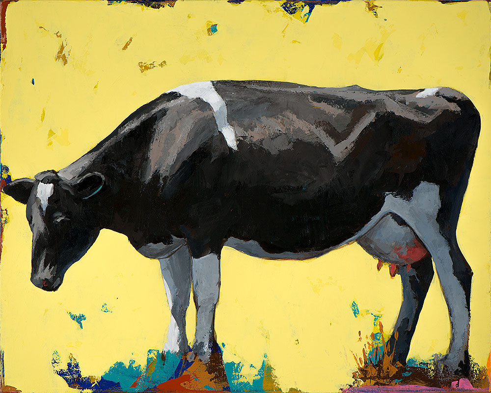 People Like Cows 12 painting by Los Angeles artist David Palmer