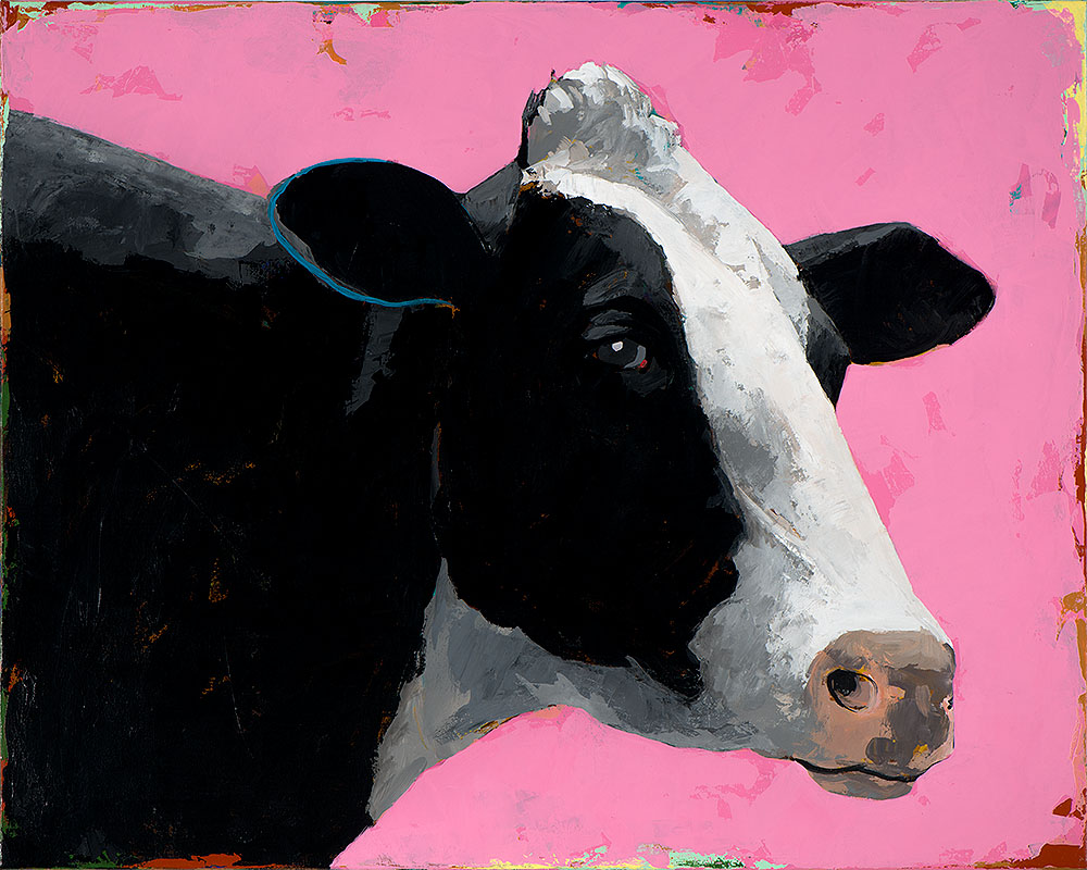 People Like Cows 13 painting by Los Angeles artist David Palmer