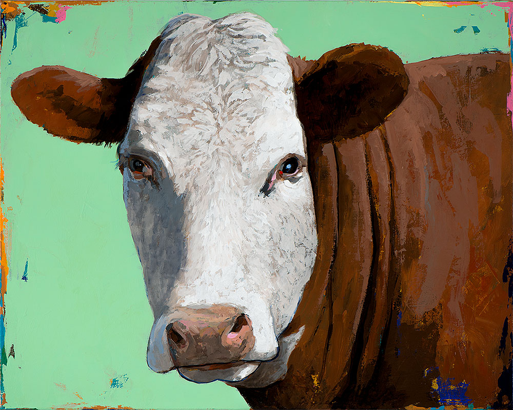 People Like Cows 14 painting by Los Angeles artist David Palmer