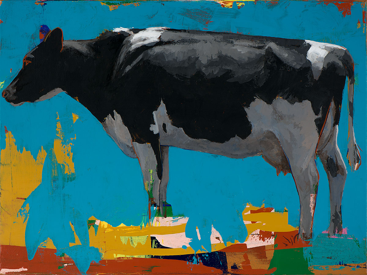 People Like Cows 15 painting by Los Angeles artist David Palmer