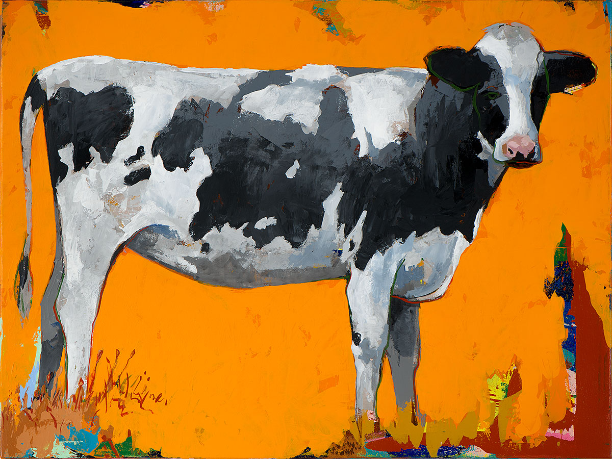 People Like Cows 16 painting by Los Angeles artist David Palmer