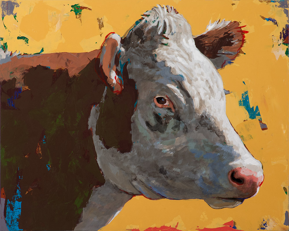 People Like Cows 7 painting by Los Angeles artist David Palmer