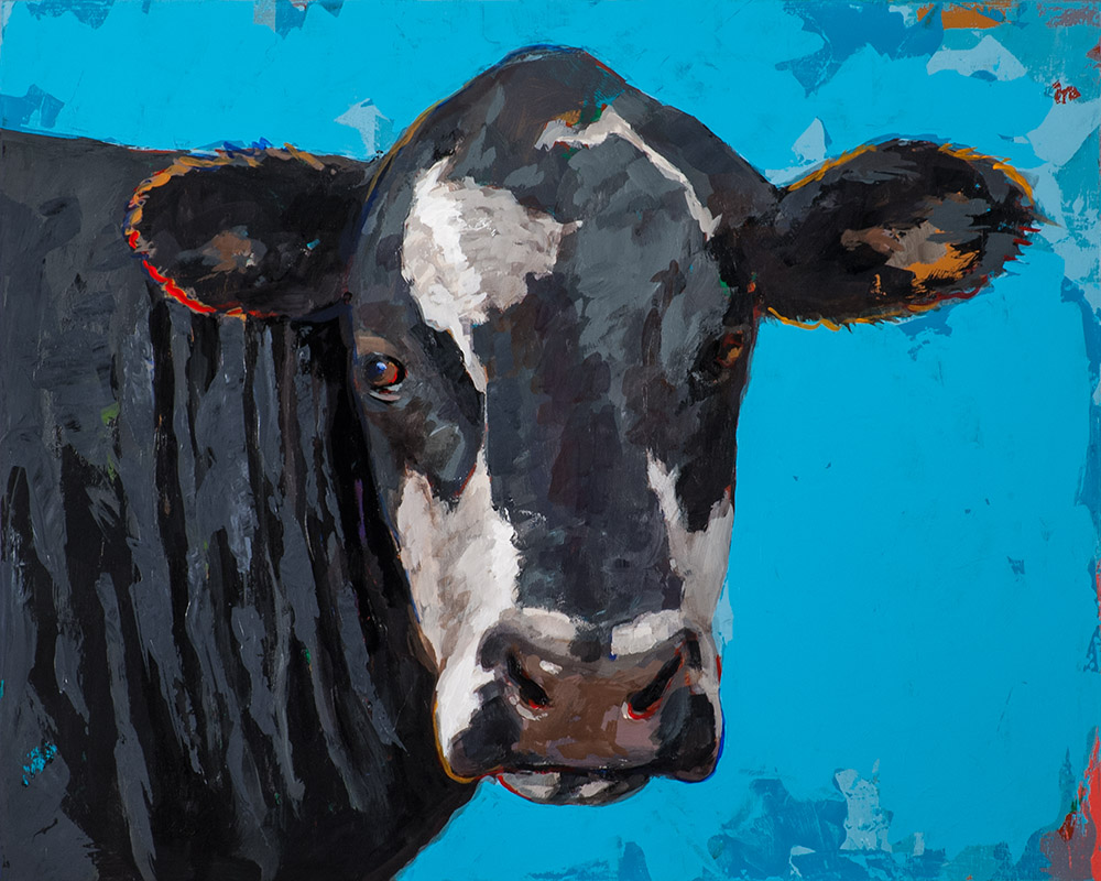 People Like Cows 8 painting by Los Angeles artist David Palmer