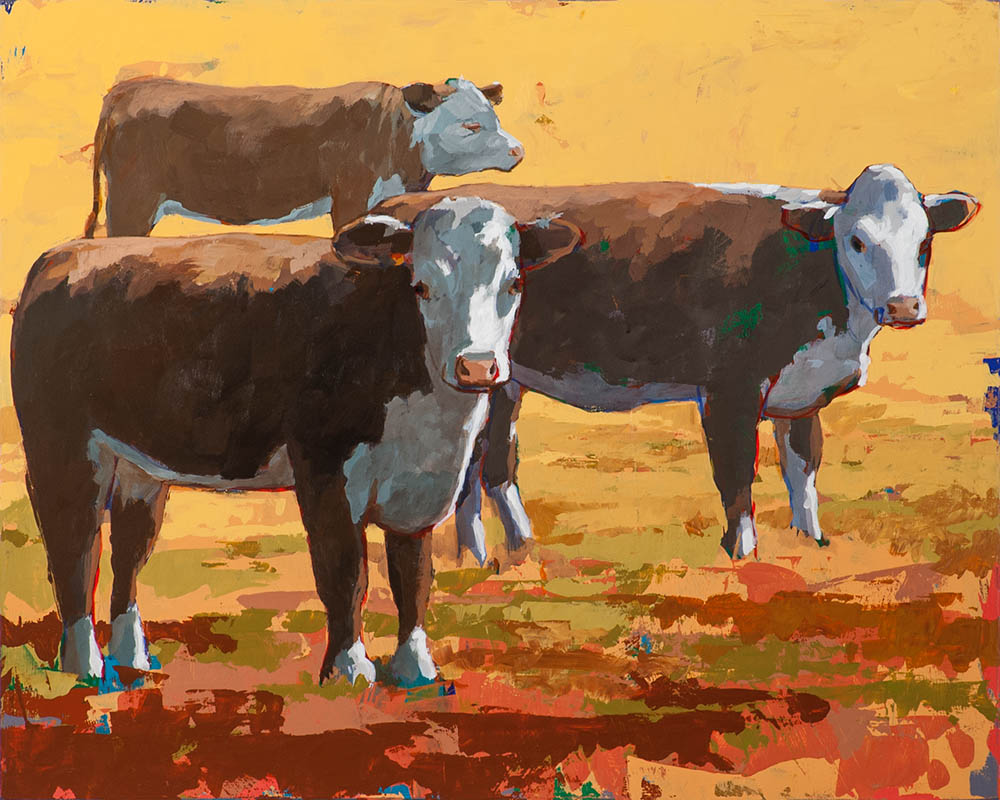 People Like Cows 9 painting by Los Angeles artist David Palmer