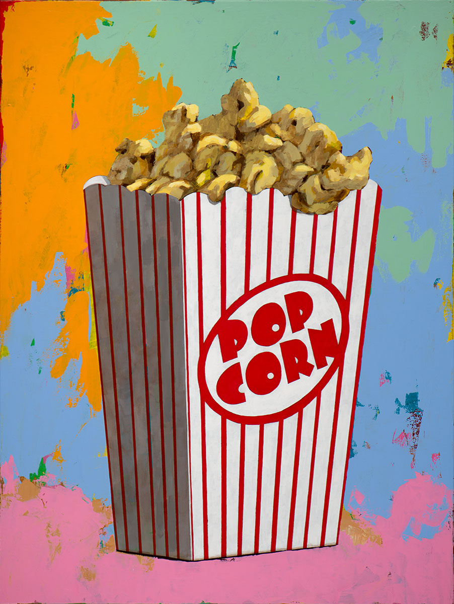 CPopcorn 2 retro Pop Art painting by Los Angeles artist David Palmer