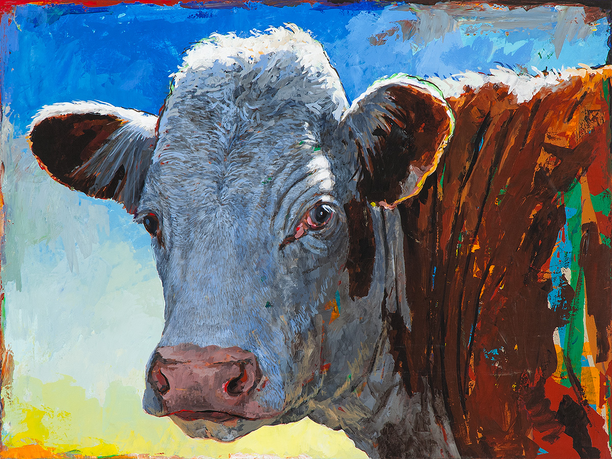 People Like Cows 17 painting by Los Angeles artist David Palmer