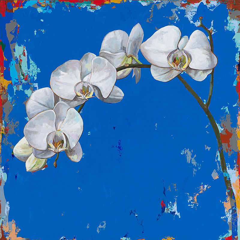 Flowers 9, painting by Los Angeles artist David Palmer, acrylic on canvas, art